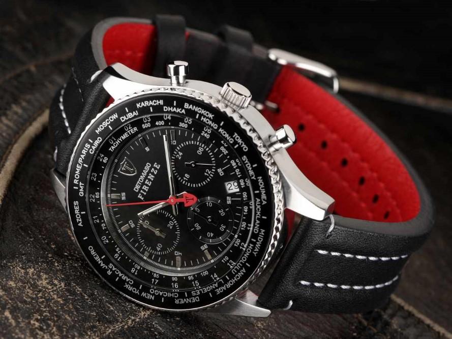 Pánské hodinky Detomaso Firenze - černé BK  e3a718422b