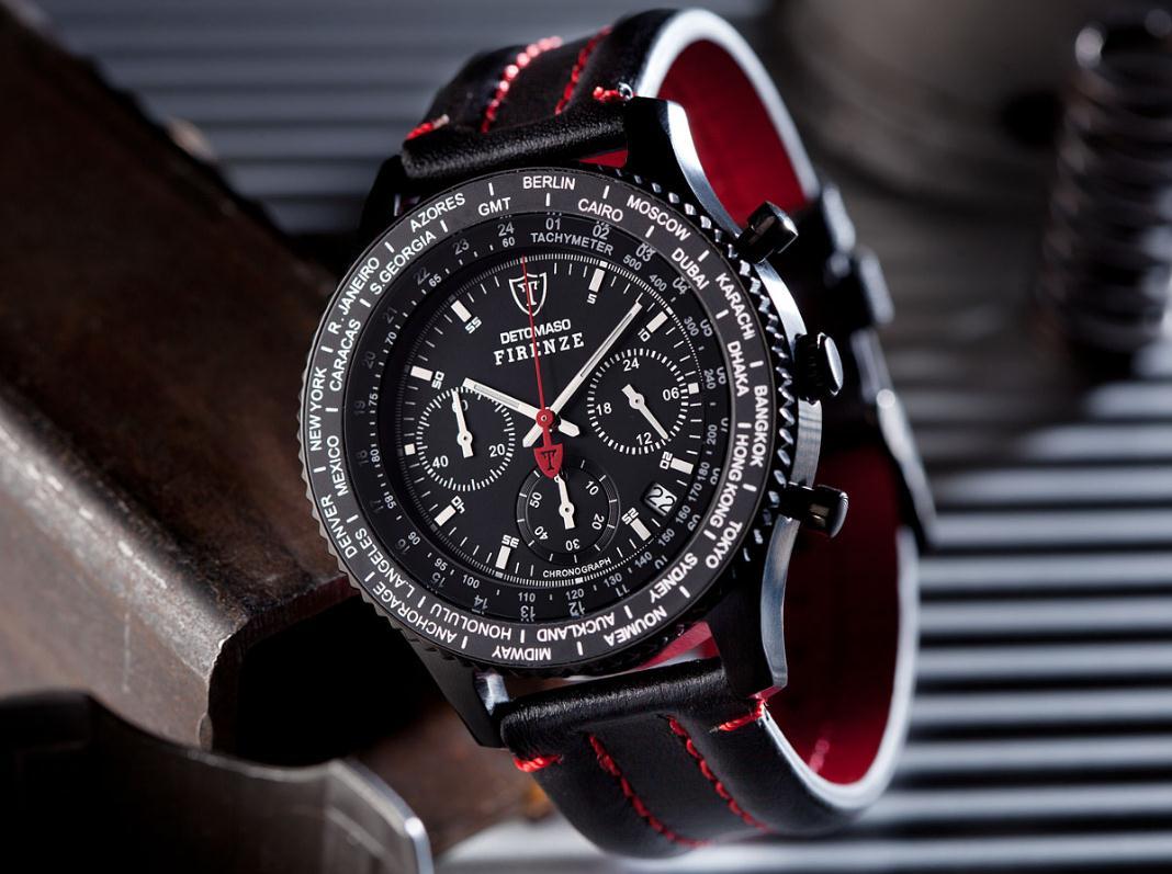Pánské hodinky Detomaso Firenze - černé BK1 e4f57ca06c