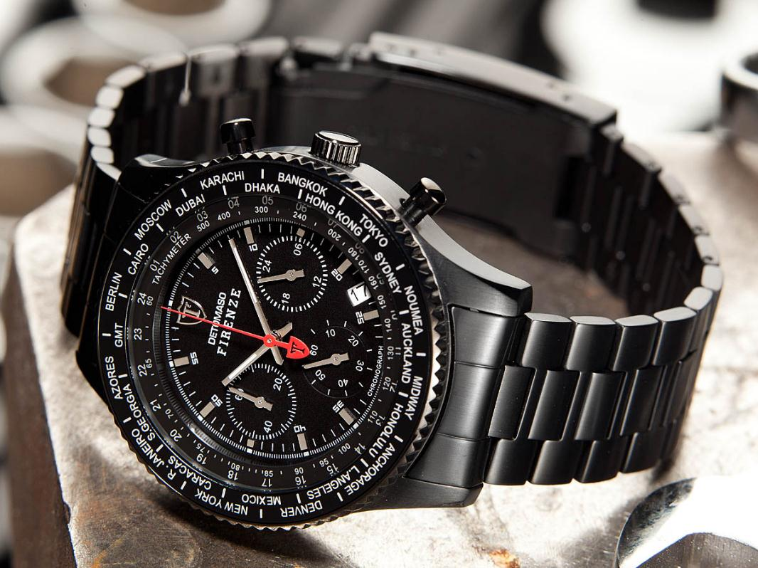 Pánské hodinky Detomaso Firenze - černé metal empty 1bb99849046